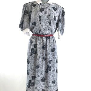 Vintage 80's Dress Office Work Made in USA